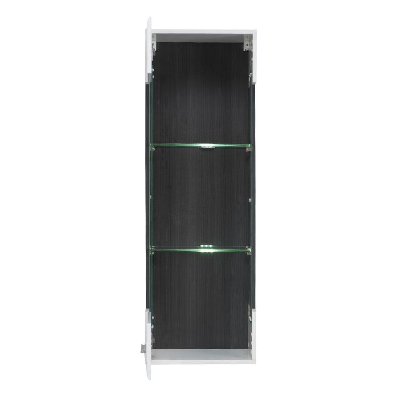 ΒΙΤΡΙΝΑ Enzo 1Κ Μ Λευκό-Black Grey Wood-Λευκή Λάκ 40*35*120
