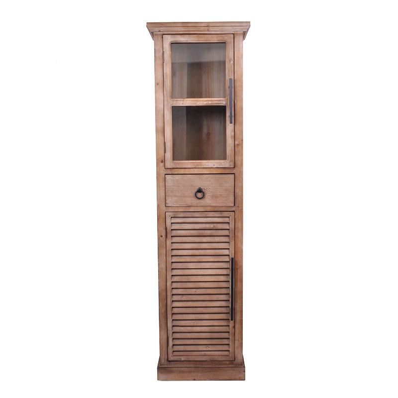 Βιτρίνα με 1 ντουλάπι και 1 γυάλινη πόρτα