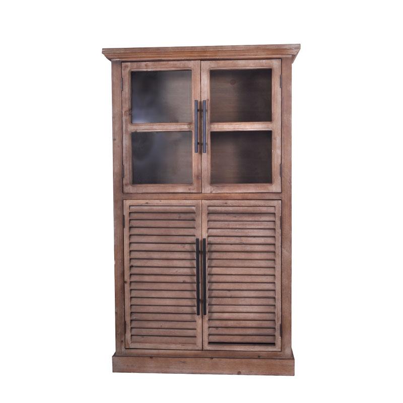 Βιτρίνα με 1 ντουλάπι και 2 γυάλινες πόρτες