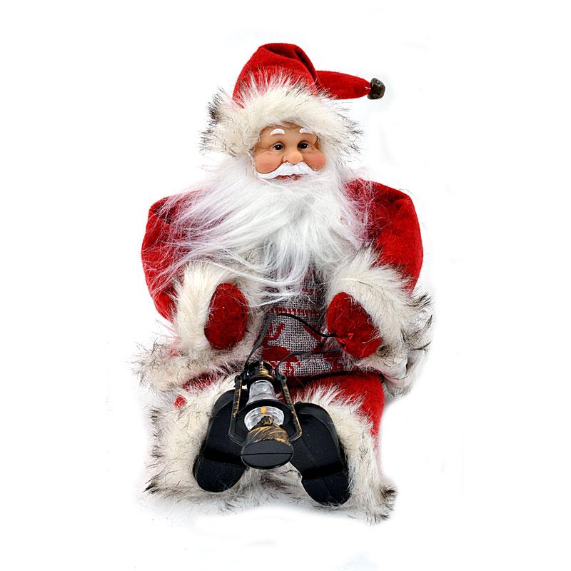 Χριστουγεννιάτικο διακοσμητικός Άγιος Βασίλης καθιστός 30εκ