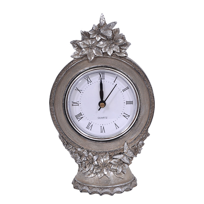 Επιτραπέζιο ρολόι μπεζ πατίνα 181772