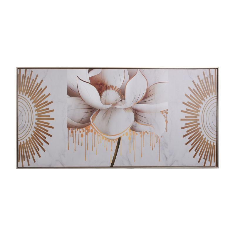 ΚΑΔΡΟ Fylliana Gold-White Flower 120*60