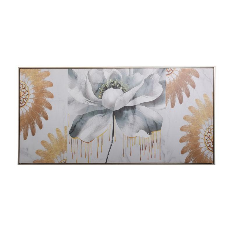ΚΑΔΡΟ Fylliana Veraman-Gold-White Flower 120*60