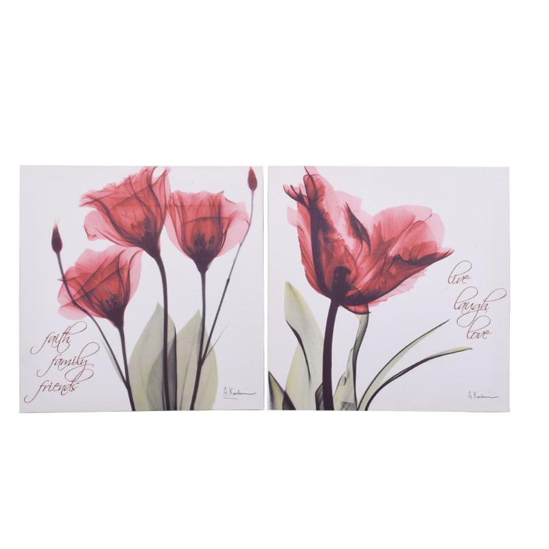 ΚΑΔΡΟ RED FLOWER 1/2 40*40 EF066-8-12