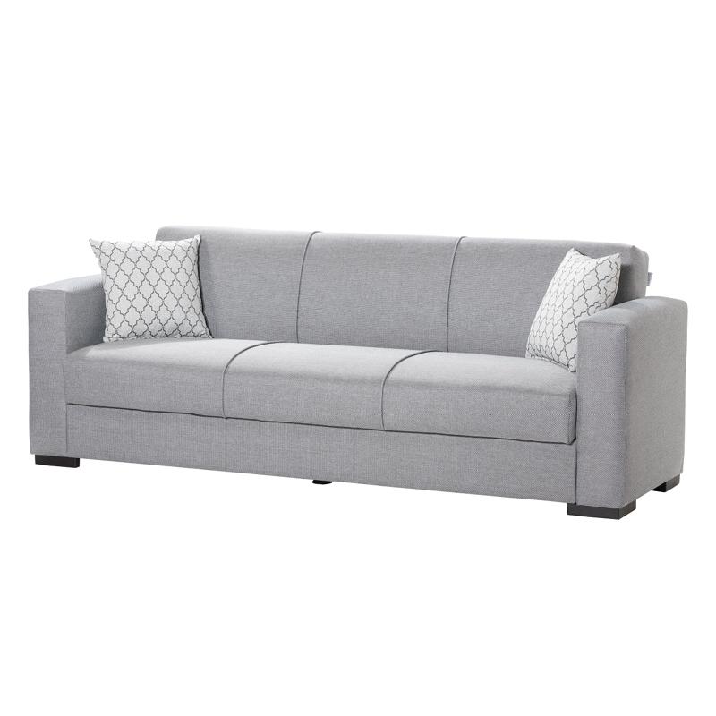 Καναπές 3 θέσιος Gracia γκρι 222*89*84