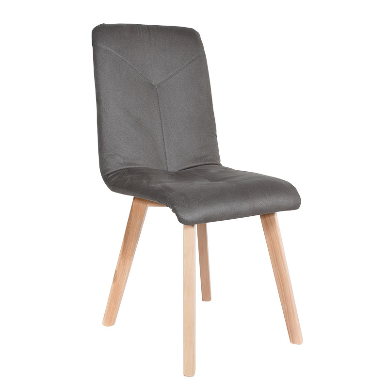 Καρέκλα Τ16 γκρι ύφασμα sonoma χρώμα ποδια 43*45*88
