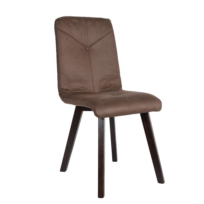 Καρέκλα Τ16 καφέ ύφασμα wenge ποδια 43*45*96
