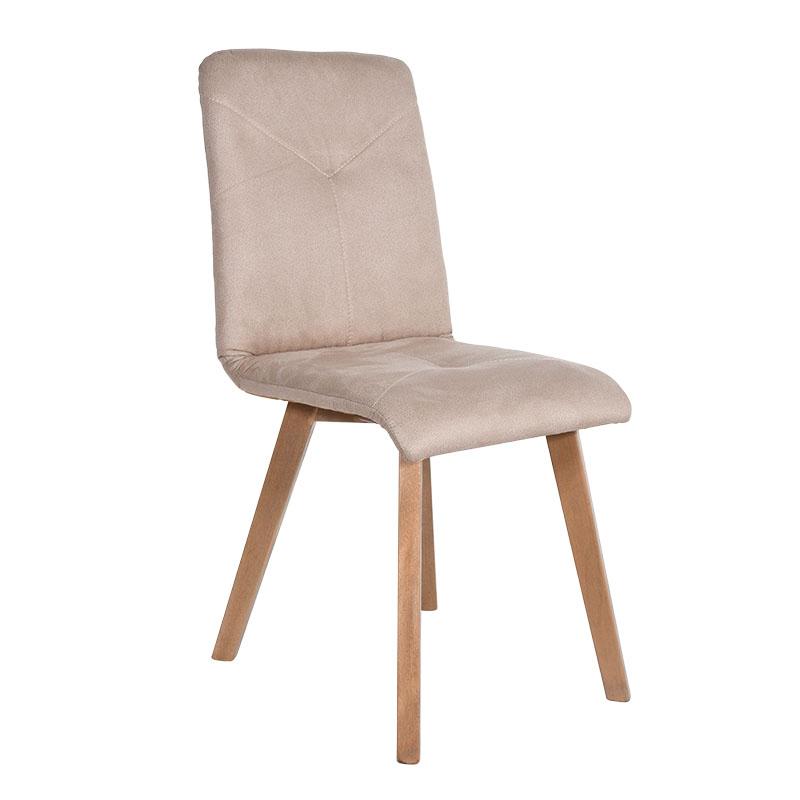 Καρέκλα Τ16 μπεζ ύφασμα sonoma ποδια 43*45*88
