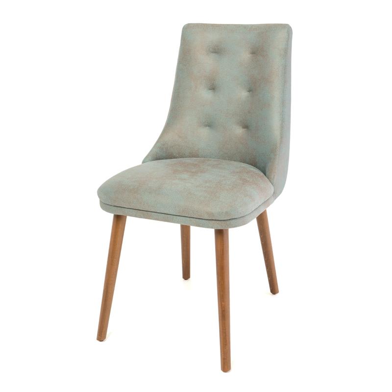 Καρέκλα Τραπεζαρίας Africa (Stella Lux) γαλάζιο-καφέ τεχνόδερμα 45*48*85