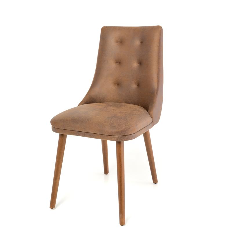Καρέκλα Τραπεζαρίας Africa (Stella Lux) καφέ τεχνόδερμα 45*48*85
