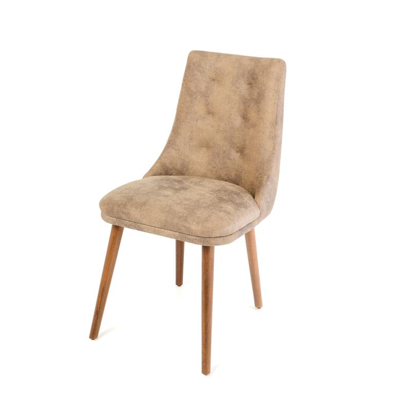 Καρέκλα Τραπεζαρίας Africa (Stella Lux) μπεζ-καφέ τεχνόδερμα 45*48*85