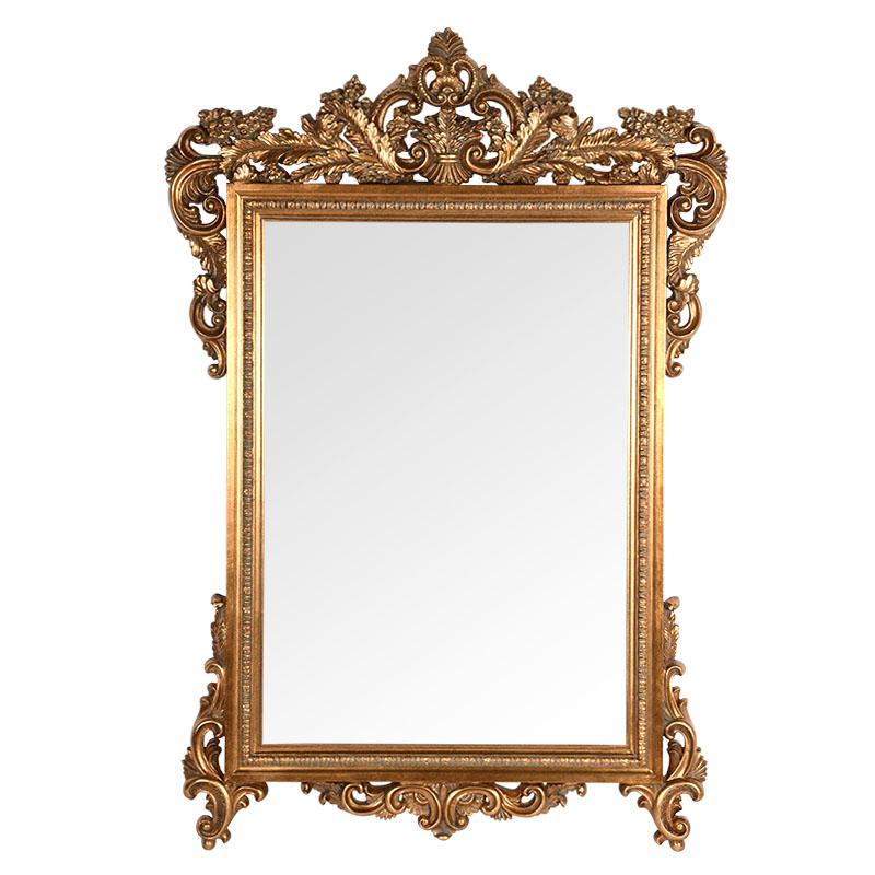 Καθρέφτης αντικέ χρυσό FP-053