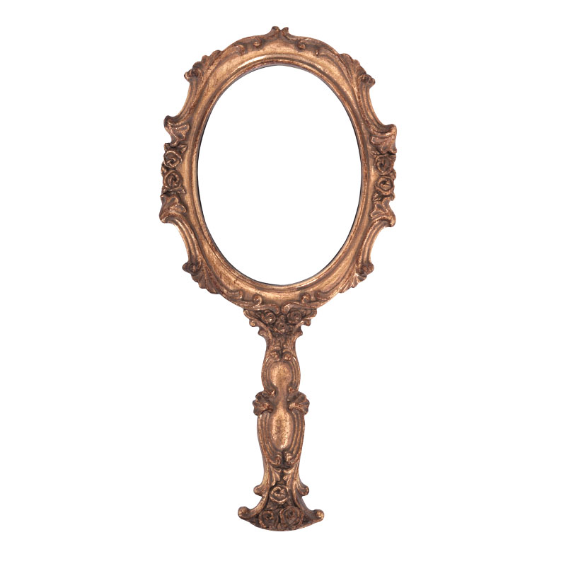 Καθρέφτης χειρός 181510 χρυσό χρώμα