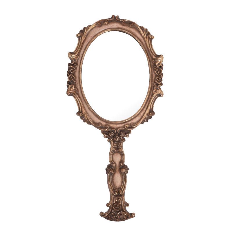 Καθρέφτης χειρός 181510 καφέ χρώμα