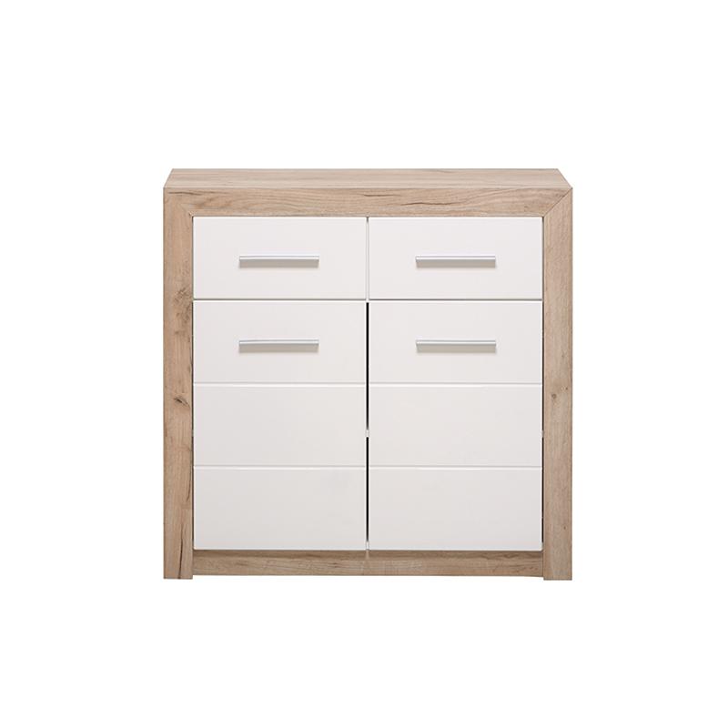 ΚΟΜΟΤΑ Etna 2K2F Grey Oak-Λευκή Λάκκα 93*35*90.5