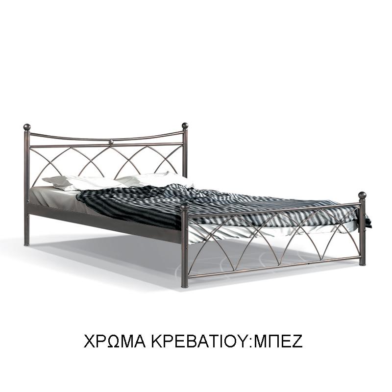 ΚΡΕΒΑΤΙ ΣΙΔΕΡΕΝΙΟ ΜΠΕΖ HERMES 120*200