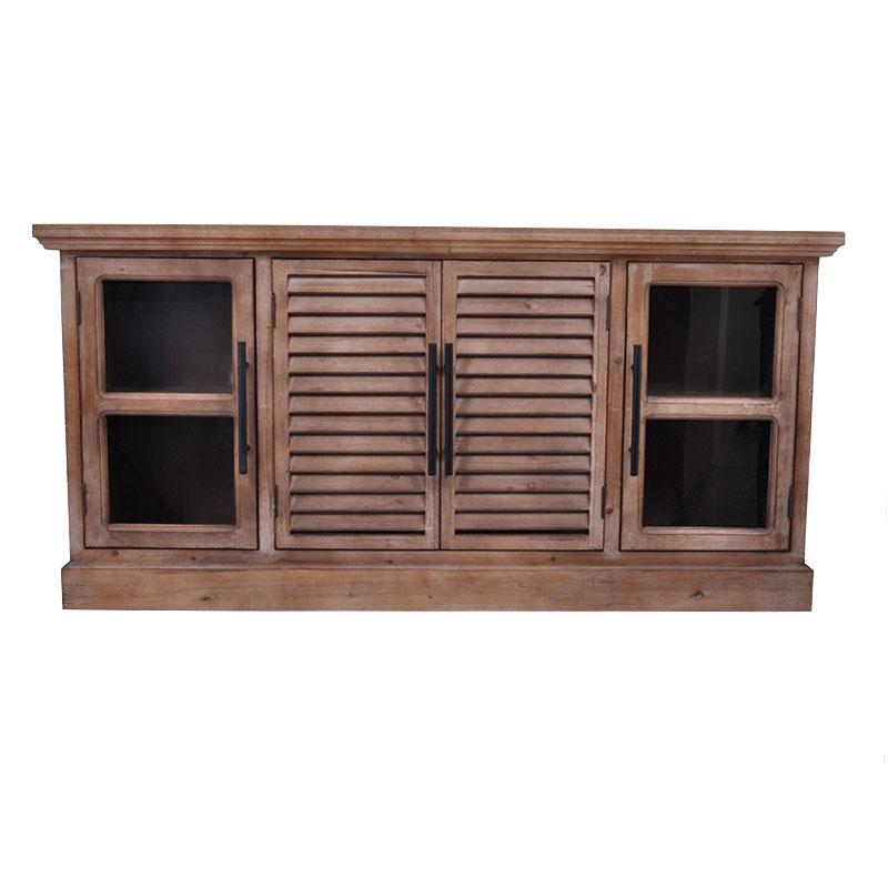 Μπουφές με 1 ντουλάπι και 2 γυάλινες πόρτες