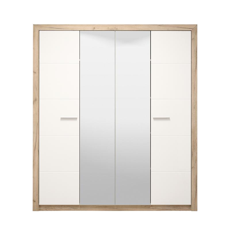 ΝΤΟΥΛΑΠΑ Astor 4K2O Grey Oak -Λευκή Λάκκα 179.5*55.5*204