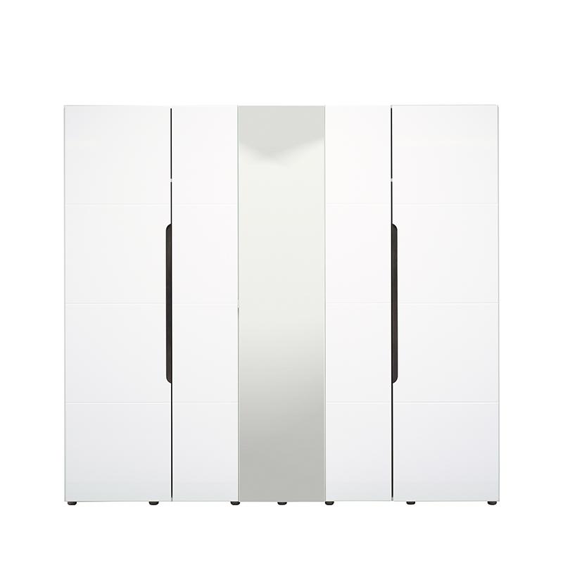 ΝΤΟΥΛΑΠΑ Karl 5K1O Λευκό-Black Grey Wood-Λευκή Λ 223.5*55.5*206
