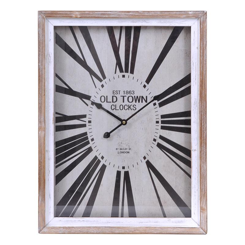 Ορθογώνιο ρολόι τοίχου φυσικό 45*60 εκ