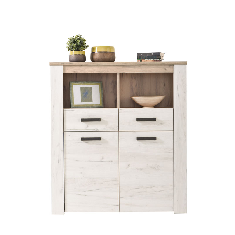 ΒΙΤΡΙΝΑ Kent POP 2F GREY OAK/WHITE OAK 114*36,5*127,5 ΦΑΥΓ