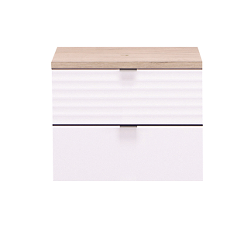 ΚΟΜΟΔΙΝΟ David NO2F Grey Oak-Λευκή Λάκκα 44,5*33,5*43