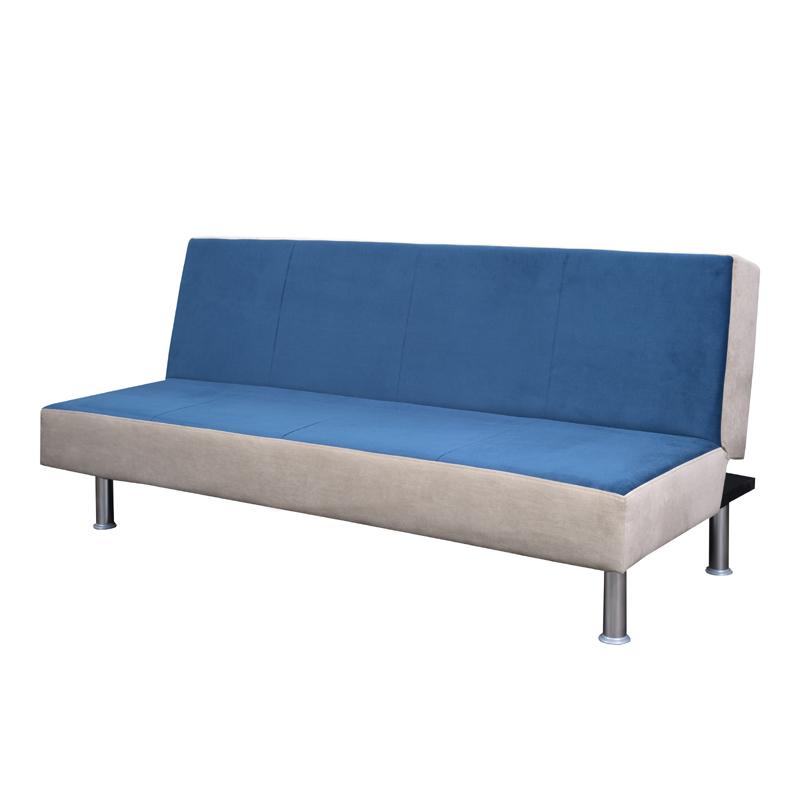 Καναπές κλικ κλακ new lux μπλε με μπεζ ρίγα 180*67*87