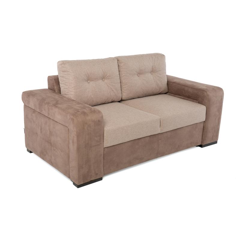 Καναπές διθέσιος new ines καφέ / μπέζ 170*100*85