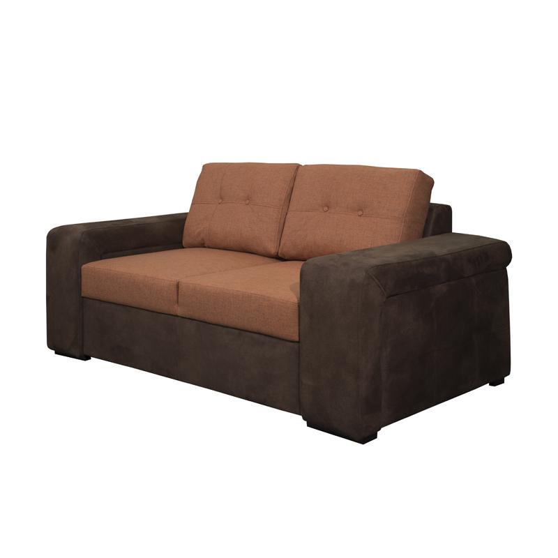 Καναπές διθέσιος new ines καφέ / πορτοκαλί 170*100*85