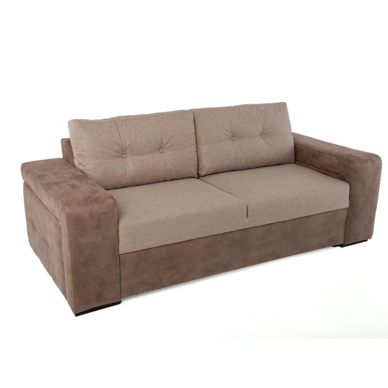 Καναπές τριθέσιος new ines καφέ / μπεζ 202*100*85