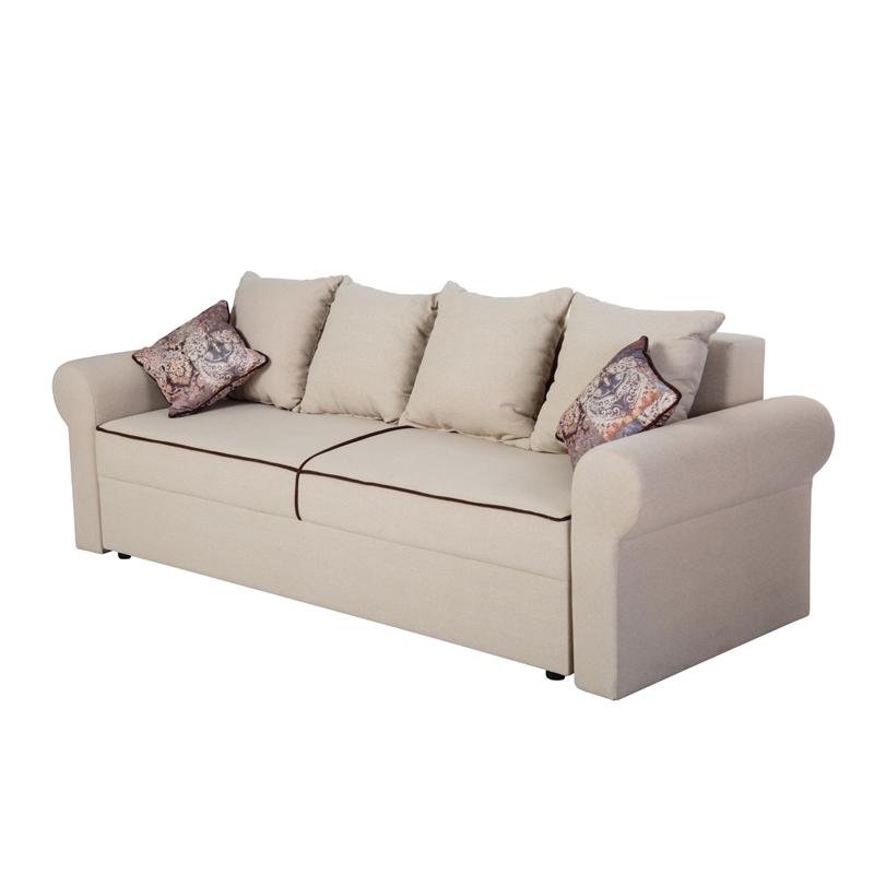 Καναπές κρεβάτι Iris μπεζ-καφέ 242,5*94,5*82