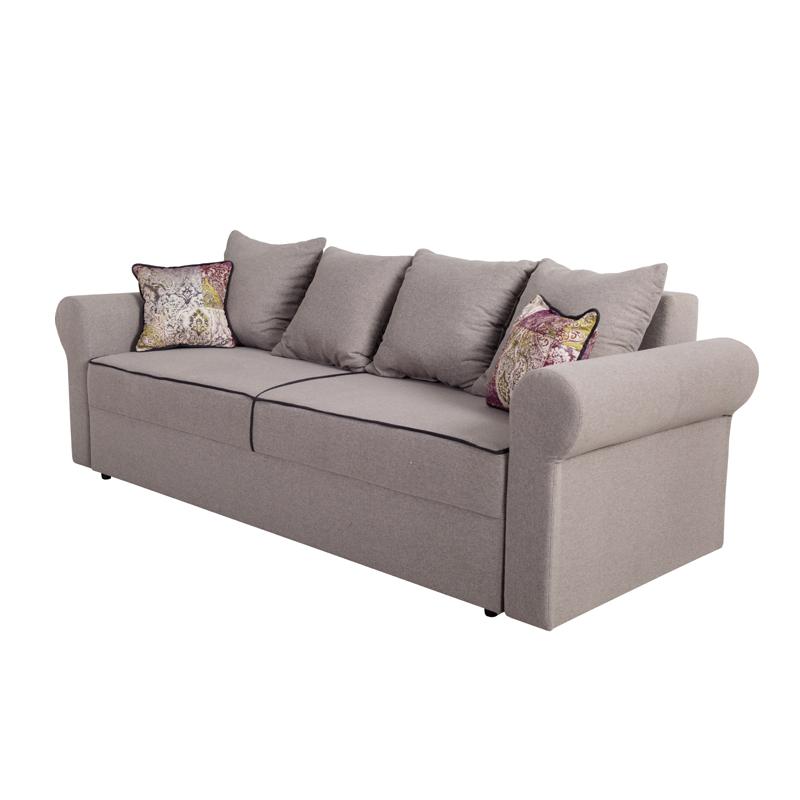 Καναπές κρεβάτι Iris γκρι-σκούρο γκρι 242,5*94,5*82