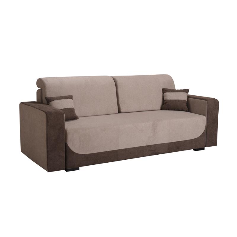 Καναπές κρεβάτι Orion καφέ-μπέζ
