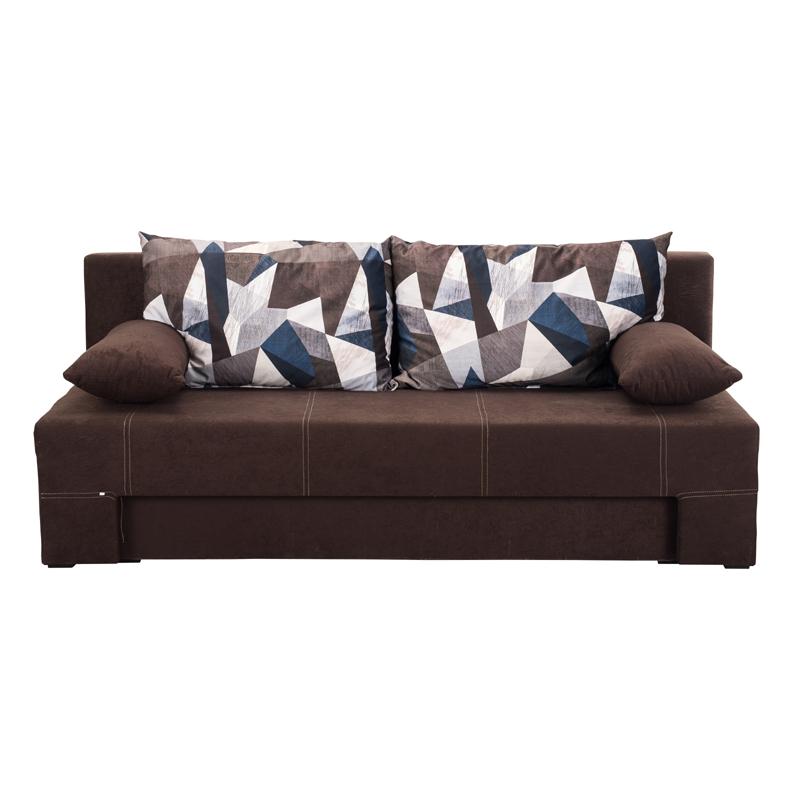 Καναπές κρεβάτι Teo καφέ 190,5*79*77