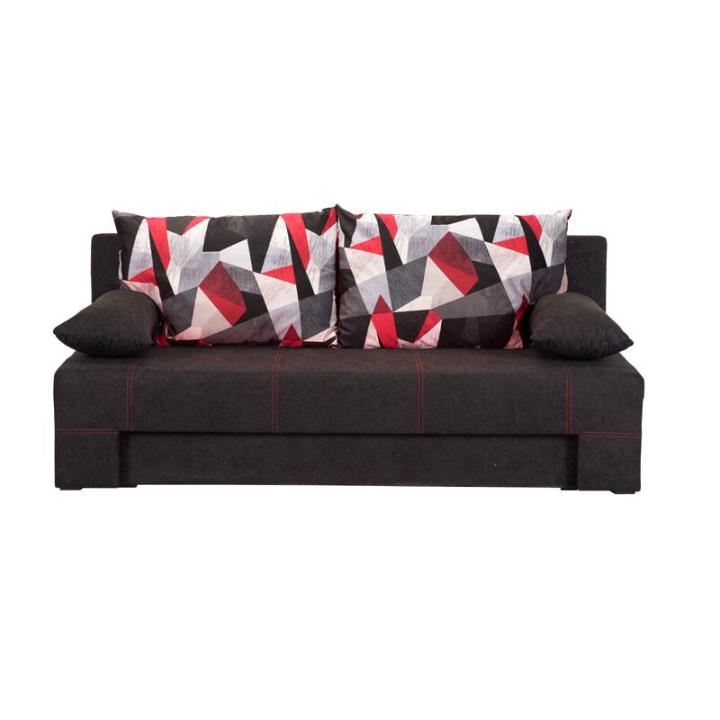 Καναπές κρεβάτι Teo μαύρος 190,5*79*77