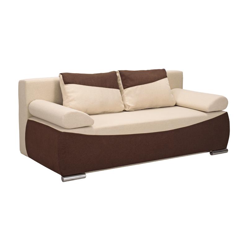 Καναπές Linda μπεζ-καφέ 204*98*81