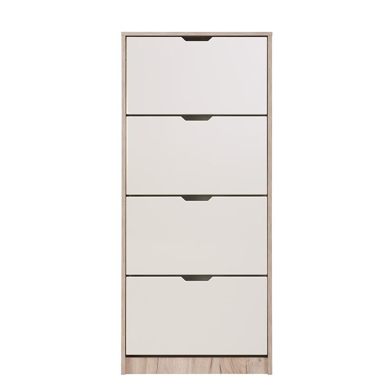 ΠΑΠΟΥΤΣΟΘΗΚΗ Hugo 24 Grey Oak-Λευκή Λάκκα 67*28*155