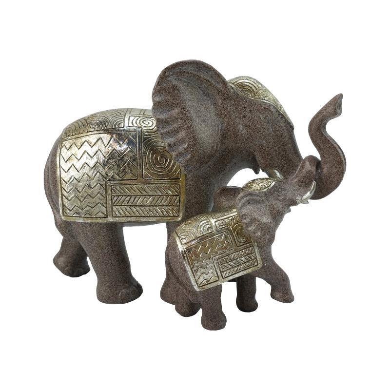 ΣΕΤ 2 ΕΛΕΦΑΝΤΕΣ ΔΙΑΚΟΣΜΗΤΙΚΟΙ 9653 ΧΡΩΜΑ ELEPHANT 24*11.5*17