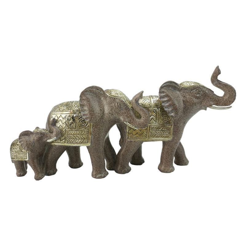 ΣΕΤ 3 ΕΛΕΦΑΝΤΕΣ ΔΙΑΚΟΣΜΗΤΙΚΟΙ 9654 ΧΡΩΜΑ ELEPHANT 30*9*15