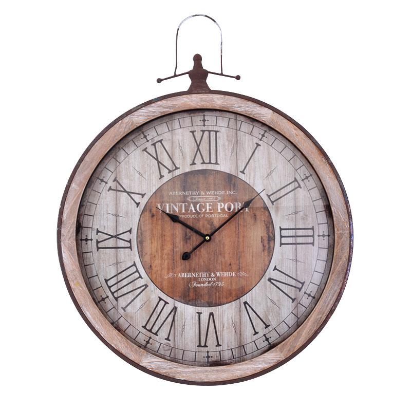 Στρογγυλό ρολόι τοίχου φυσικό