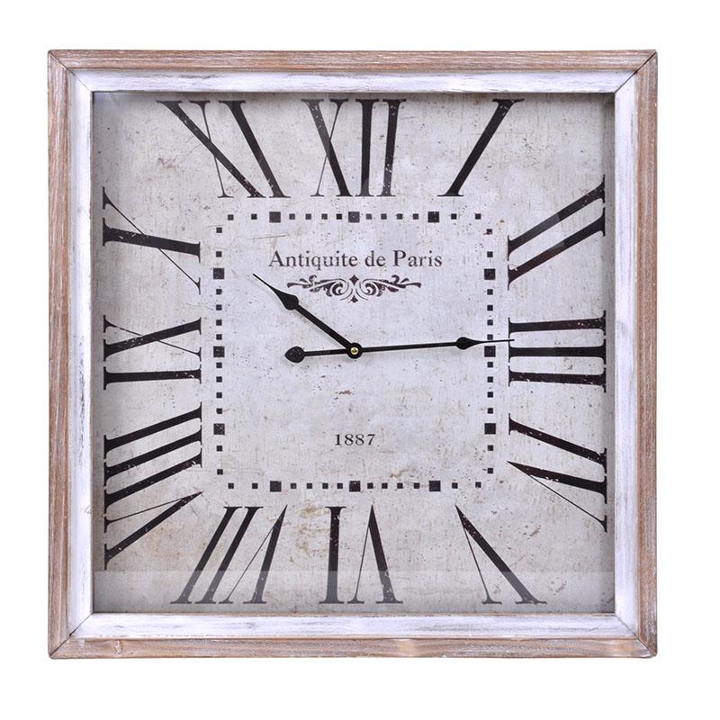 Τετράγωνο ρολόι τοίχου φυσικό 60 εκ.