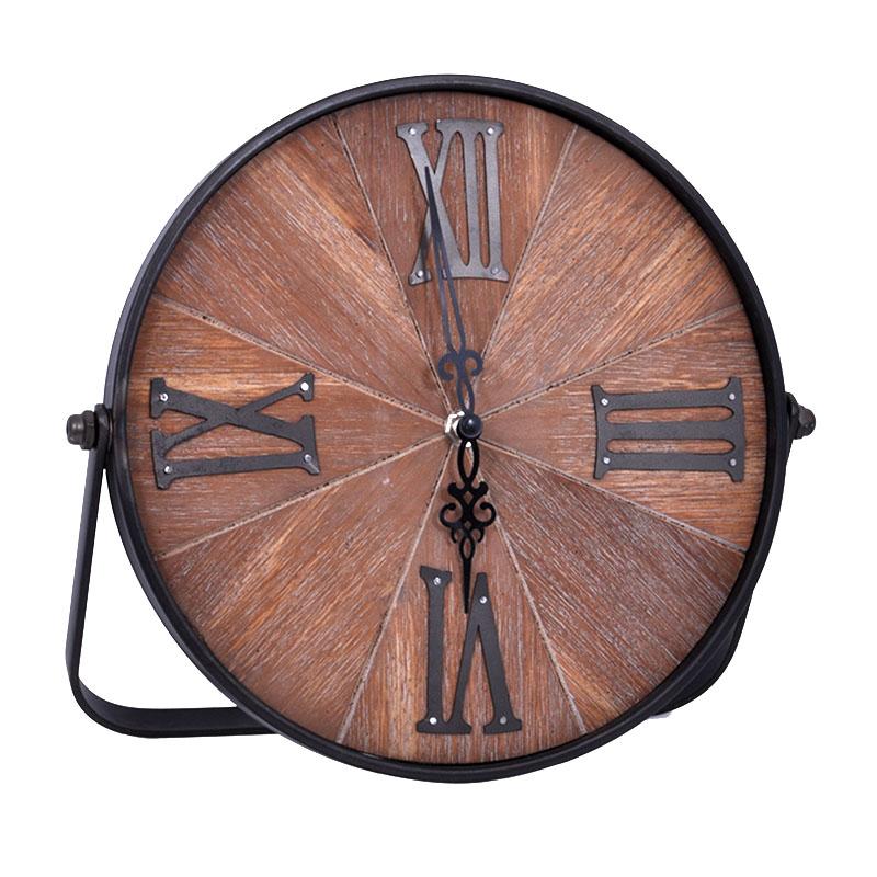Ξύλινο επιτραπέζιο ρολόι