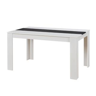 ΤΡΑΠΕΖΙ DOMUS WHITE/BLACK-GREY WOOD 135*80.5*74.5 ΦΦ4